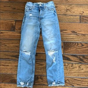 1a9ecf8d5f MOTHER Jeans | The Tomcat Ripped Crop Straight Leg | Poshmark